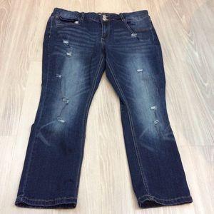 SO cropped denim skinny jeans size 17